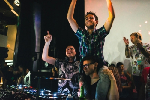 Skrillex at Holy Ship!! with Tiesto and Zedd