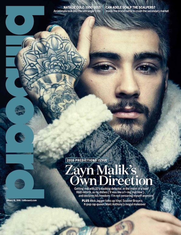 zayn malik billboard cover