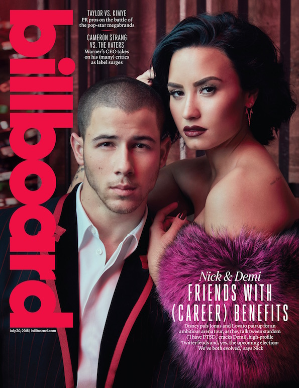 demi lovato nick jonas billboard cover